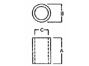 Electronics-Salon 100pcs 22mm Black Nylon Round Spacer, OD 7mm, ID 4.1mm, for M4 Screws, Plastic.