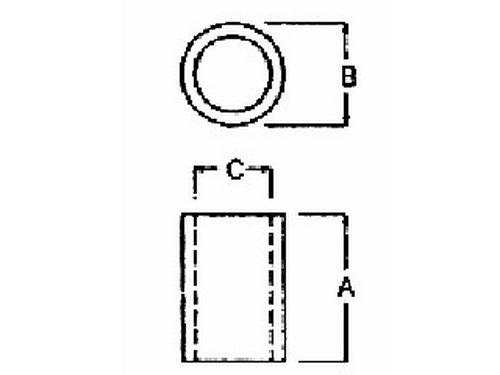 100PCS 10mm Black Nylon Round Spacer Plastic. OD 7mm Not Threaded ID 3.2mm for M3 Screws