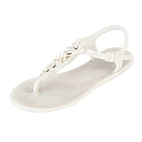 White Clip Shoes Flat Beach Toe Sandals Design Anxinke Women Summer Simple 4pSvUx