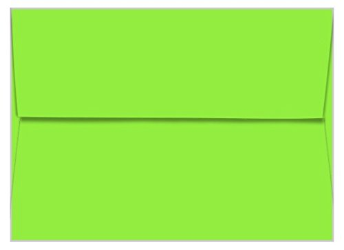 A7 Astrobright Martian Green Envelopes - Straight Flap, 60T, 1000 Pack