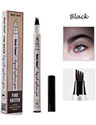 - Eyebrow Tattoo Pen-LilyAngel Waterproof Microblading Eyebrow Pencil with a Micro-Fork Tip Applicator Creates Natural Looking Brows Effortlessly(Black,1 pack)