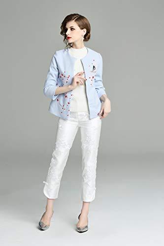 Bordado De Invierno Mano 3 Lujo Otoño Wtug® Tang Chinese Short Cheongsam A Moda Hecho Damas Top Coat Suit Elegante xfXg1qwv