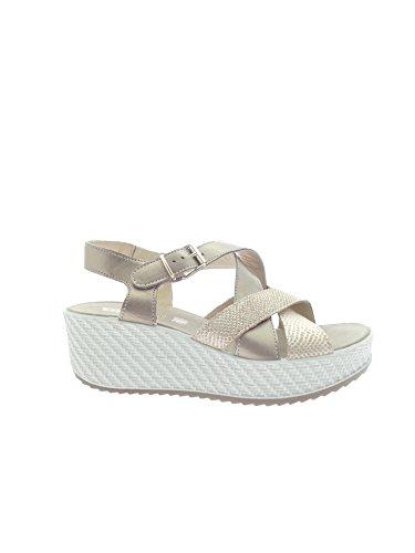 ENVAL - Sandalias de vestir para mujer Platino