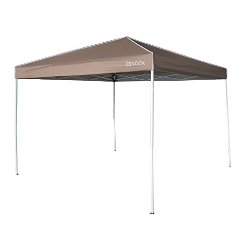 Folding Gazebo, Pop-up Portable Instant Canopy Tent with Carry Bag - 10 x 10 ft Beige, (Beige Gazebo)