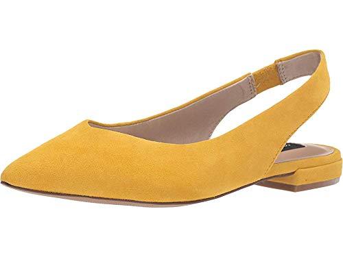 STEVEN by Steve Madden Women's Lourdes Mary Jane Flat Yellow Suede 6 M US