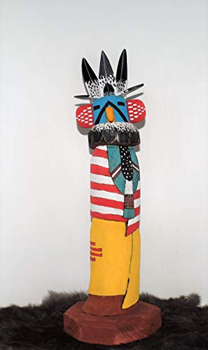 Eagle Dancer Kachina Sculpture with US and New Mexico, used for sale  Delivered anywhere in USA