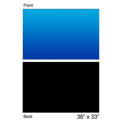 Vepotek Aquarium Background Ocean Blue/Black Double sides 36 by 24 Inch (36''X24'') by Vepotek