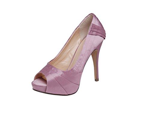 Mujer De Zapatos Vestir Ca011 ruby Rosa Pink Para Satén Lexus Dusty F0gTW
