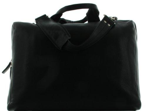 Leder Meid Aktentasche Laptopfach 17 Zoll M25 - Schwarz