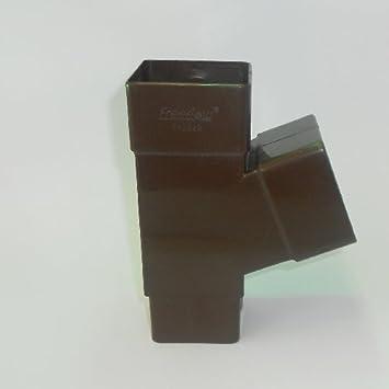 Fallrohr eckig  Ast Fallrohr Y 65 mm eckig braun: Amazon.de: Baumarkt