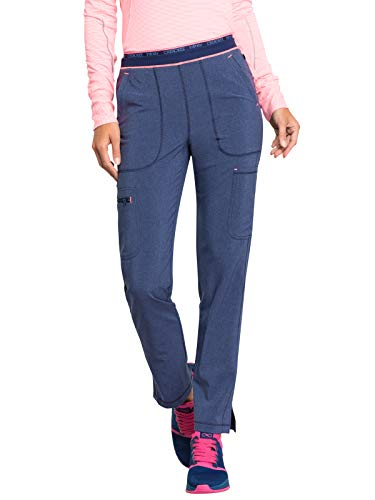 Cherokee Infinity CK050A Women's Mid Rise Tapered Leg Pull-On Pant Heather Navy XL