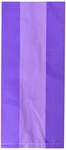 Amscan Cello Party Bag, Large | New Purple | Party Accessory | 300 Ct.