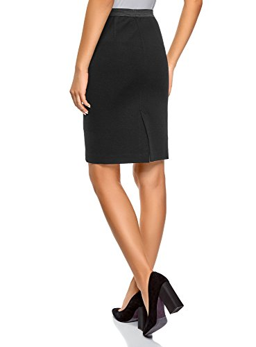 Noir Jupe Femme 2900n Taille Crayon lastique Ultra oodji pEqxgTzYwn