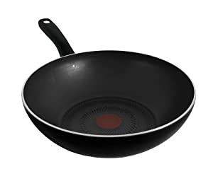 tefal intensium non stick wok 28 cm black kitchen home. Black Bedroom Furniture Sets. Home Design Ideas