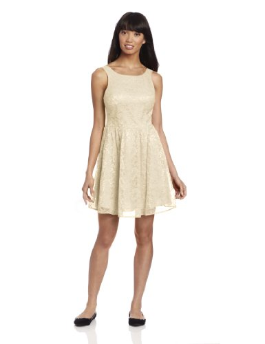 Jack by BB Dakota Women's Azura Dress, White Cap, 10 ()