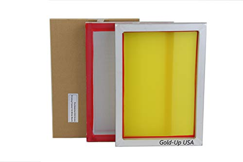 Aluminum Screen Printing Screens, Size 9'' x 14'' Pre-Stretched Silk Screen Frame (230 Yellow -