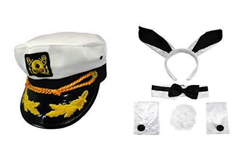 Nicky Bigs Novelties Sailor Ship Yacht Captain Hat Cocktail Bunny Costume Kit ()