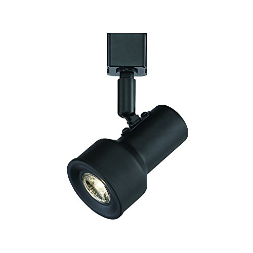 Designers Fountain EVT1030D3-05 Small Solid Black Step Cylinder Integrated LED Track Lighting Head, -