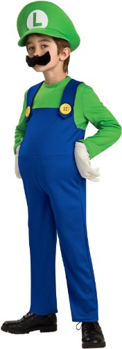 Super Mario Brothers, Deluxe Luigi Costume, -