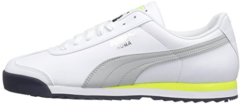 PUMA Men's Roma Basic Fashion Sneaker, Puma White-Gray Violet, 8 M US
