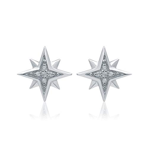 UNIVERSE FINE JEWELRY - Diamond-Accent Twinkle Star Stud Earrings Inspired by Marvel's Captain Marvel