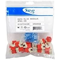 ICC MODULE- CAT 5e- HD- 25 PK- ORANGE / ICC-IC107F5COR /