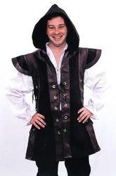 Renaissance Robin Hood Hooded Medieval Tunic Vest (Robin Hood Tunic)