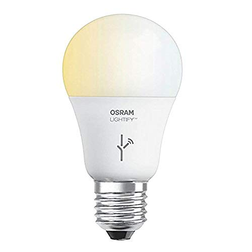 SYLVANIA LIGHTIFY ZigBee Adjustable White A19 LED Bulb, Works with SmartThings, Wink, and Amazon Echo Plus, Hub needed for Amazon Alexa and the Google Assistant, Basic Box