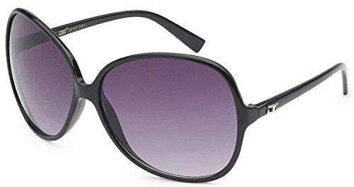 CG Eyewear Designer Vintage Oversized Women's Sunglasses (Black Oversized)