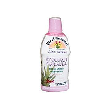 2 Packs of Lily Of The Desert Aloe Herbal Stomach Formula Fresh Mint - 32 Fl Oz - Desert Herbal Stomach Formula