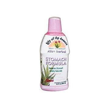 2 Packs of Lily Of The Desert Aloe Herbal Stomach Formula Fresh Mint - 32 Fl Oz
