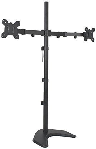 - VIVO Dual Monitor Free-Standing Stand up Desk Mount, Extra Tall 40 inch Pole, Height Adjustable | Fits up to 27 inch Screens (STAND-V012F)