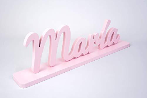 Nombre de madera personalizado letras decorativas para decoración ...