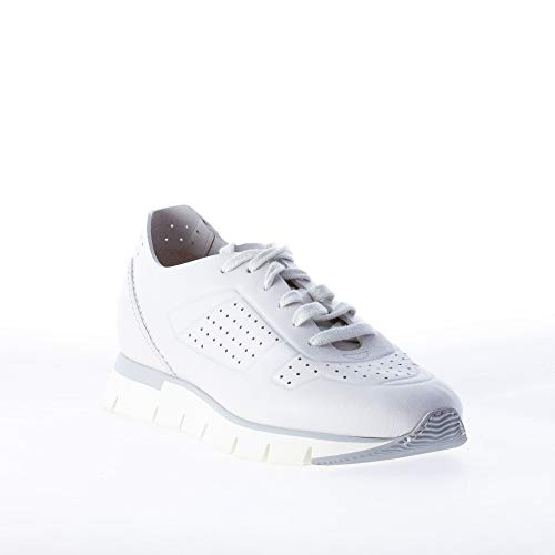 Sneaker Donna Grigio Santoni Pelle In Forati Chiaro Con Dettagli 1fdI5wqI