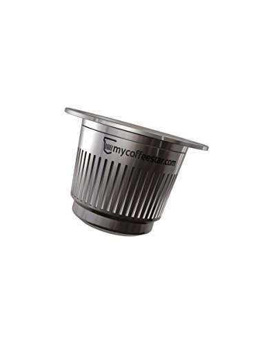 Mycoffeestar Refillable Stainless Steel Nespresso Capsule for OriginalLine Machines (Nespresso Stainless Steel Pods compare prices)