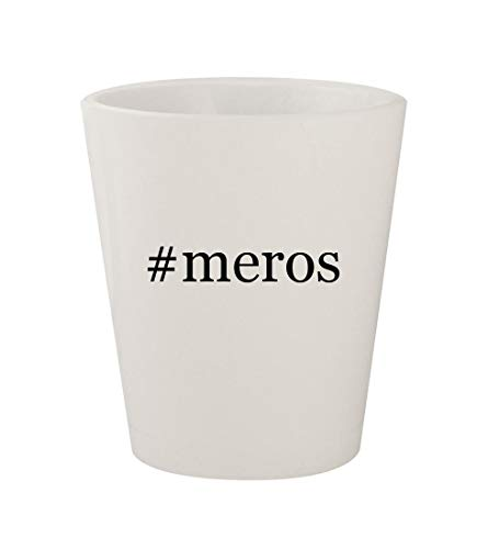 - #meros - Ceramic White Hashtag 1.5oz Shot Glass