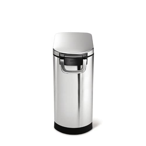 well-wreapped simplehuman X-Large Pet Food Storage Can, Brushed Stainless Steel, 35 L, 40 lb / 18.1 kg