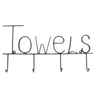 Aunt Chris' Products - Black Metal Towel Hooks - The Word