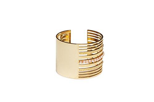 MOUNSER laiton plaqué or 14 carats Unity Bracelet manchette