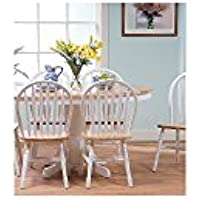 TMS 7 Piece Farmhouse Dining Set, white/natural