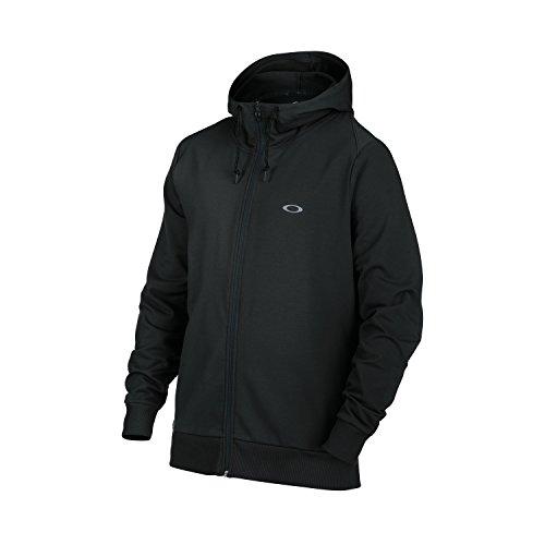 Icon Full Zip Hoody - Oakley 472330 Men's Icon Full Zip Fleece Hoodie, Blackout - XX-Large