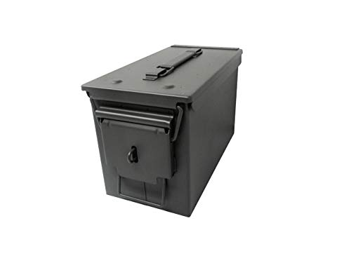 11.8 All Metal 50 Caliber Ammo Can with Installed Locking Hardware by Modern Warrior