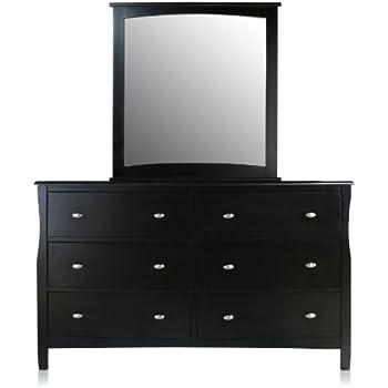 furniture of america essos modern dresser and mirror set espresso finish kitchen. Black Bedroom Furniture Sets. Home Design Ideas
