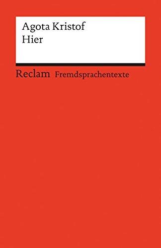 Hier: Roman (Reclams Universal-Bibliothek)
