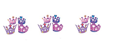 Princess Activity Kit ((12) PRINCESS DIY Crown Kits ~ Magical Party Favor ~ Activity Crafts~ Birthday Party Goodies ~ Valentine's Day ~ BFF ~ Sleepovers)