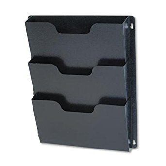 Buddy Products Triple Wall Pocket, Steel, 2.5 x 17.5 x 14.5 Inches, Black (5210-4) by Buddy Products