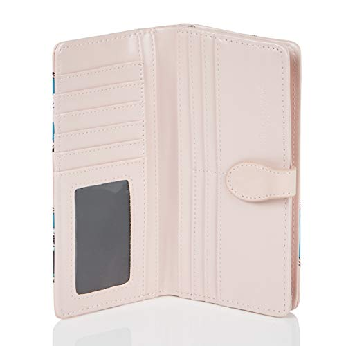 Purseflamant PortefeuilleLarge Fille flamingosChatCat Shagwear Jeune Rose Crème 76bgfyY