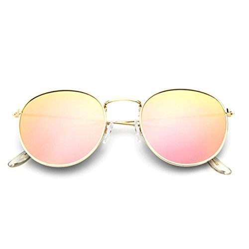 Sinkfish SG80026 Sunglasses for Women,Anti-UV & Retro Round Reflector - UV400/Bisque /Cornsilk (Sunglasses Oakley Sale For)