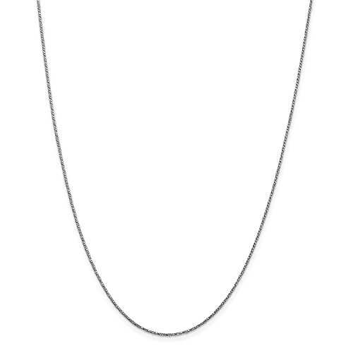 Roy Rose Jewelry 14K White Gold .95mm Twisted Box Chain Necklace ~ Length 16'' inches - 16' Twisted Box Chain