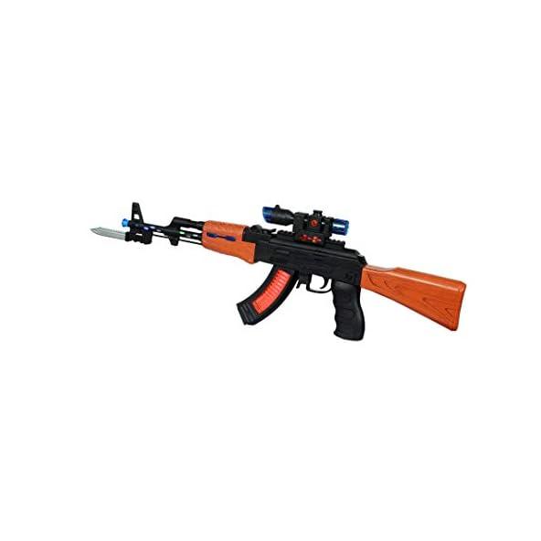 BabyGo AK 47 Toy Gun with Light & Sound Gun for Kids